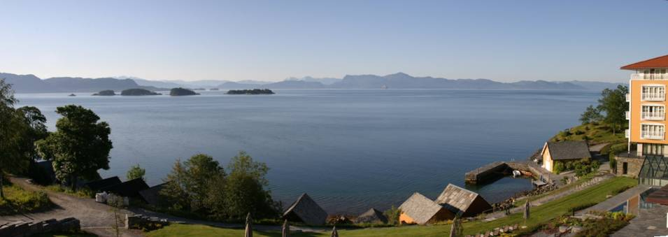 View of the Os fjord from the Solstrand Hotel